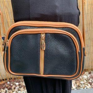 Valentina Black/Ginger Crossbody Bag